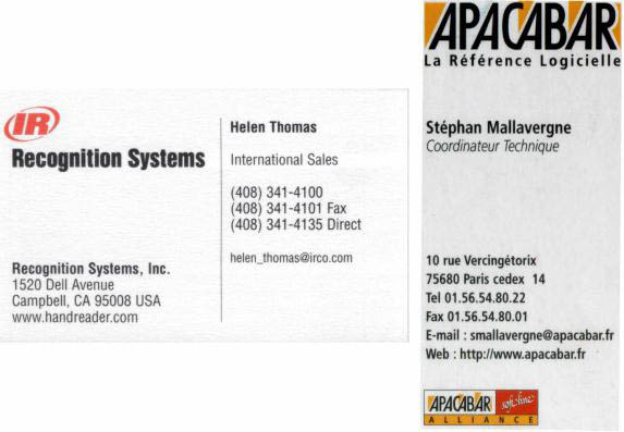 Two Business Cards