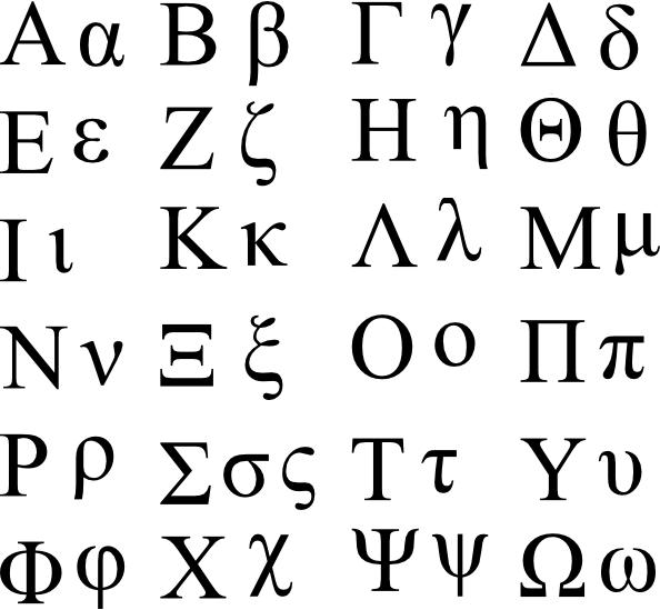 Greek Letter Fro Stress