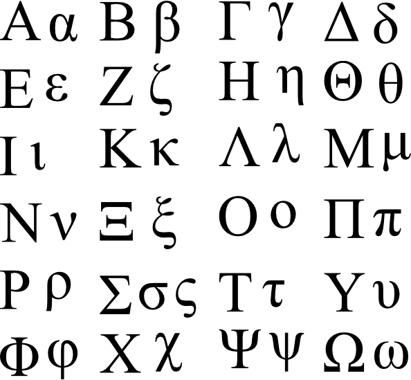 Greek Letter For Sigma Chi